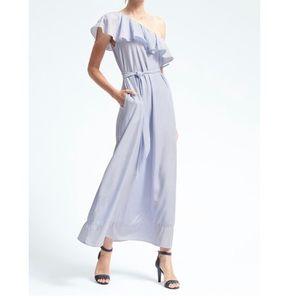Banana republic one shoulder maxi dress w/ pockets